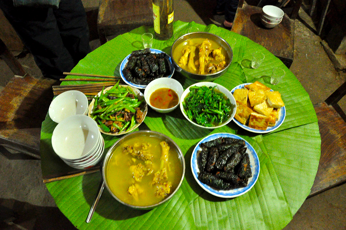 The specialist Ba Be National Park restaurant, Mr Linh's dinning